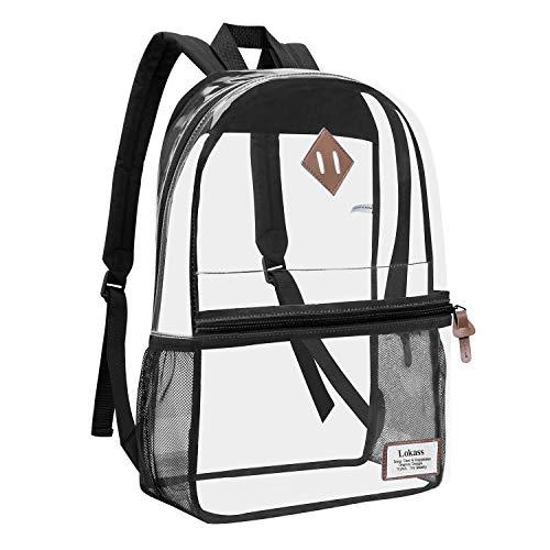 DXQY Rucksack PVC Transparente Tasche Student Tasche Frische Persönlichkeit Transparente Rucksack Boutique Damentasche Zipfel Eine Reihe Von Optionen8216 Schwarz (Einzelne Tasche) -
