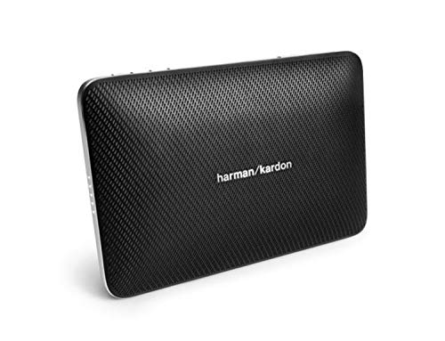 Harman/Kardon Esquire 2 Sistema Altoparlante Wireless/Bluetooth, Portatile, Ricaricabile, Sottile, con Microfono Conferenza 360° Integrato, Nero