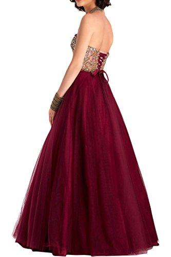 La_mia Braut Damen Royal Blau Spitze Traegerlos Abendkleider Promkleider Abschlussballkleider Lang Neu Royal Blau