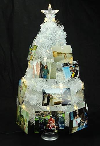 Christmas Concepts 3ft Albero di Natale con Fotografia a Fibra Ottica Iridescente con luci a LED Bianche Calde