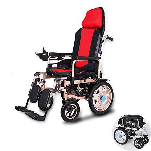 WMWZ Elektrischer Rollstuhl - Intelligente Automatische Elektrorollstuhl - Faltbar Tragbare - Sitzbreite 45Cm, Frei-Reiten, Rollstuhl(Kann 100Kg Unterstützen)
