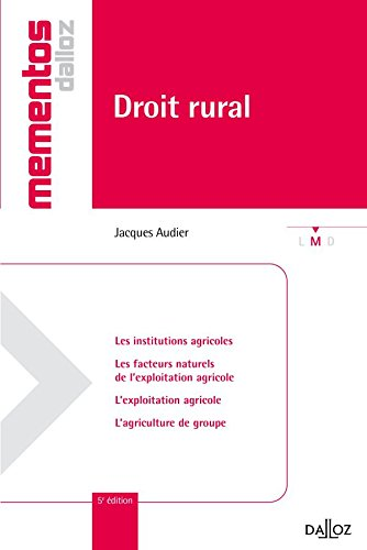 Droit rural - 5e éd.: Mémentos par Jacques Audier