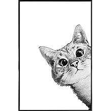 Abstrakte Katze Bild Mit Rahmen Geschenkidee Fur Katzenliebhaber