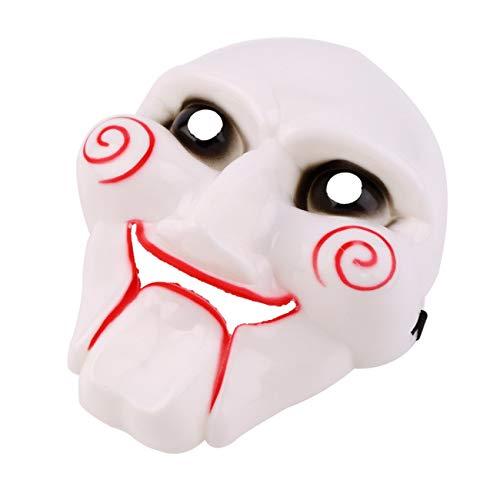LasVogos Kreative Terror-Maskerade-Halloween-Partei-Kostüm Cosplay für Film Kettensägen-Mörder-PVC-Partei-Verein Gesicht für Erwachsene ()