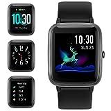 【2019 Aggiornato】 GRDE Smartwatch Bluetooth V5.0 Orologio Fitness Uomo Donna 1,3'' Touchscreen Fitness Tracker con Monitor del Sonno Cardiofrequenzimetro da Polso 5 ATM Impermeabile per Android iOS