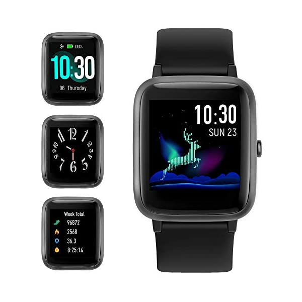 GRDE Smartwatch, Relojes Inteligentes Hombre Impermeable IP68 para GPS Deportivo con Pulsómetro, Calorías, Monitor de… 1