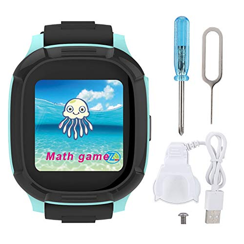 Smartwatch Watch Ttracking Device for Kids with GPS, Children Tracker Watches Feature Positioning Real Time/SOS Emergency Regali di Compleanno di Natale per Bambini Ragazzi e Ragazze(Blu)