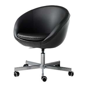 SKRUVSTA-Chaise pivotante, Idhult noir
