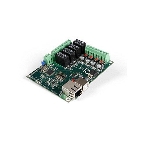 Ethernet Netzwerk Relaiskarte 4-Kanal inkl 4 Digital & 1 Analog Eingang Velleman VM204