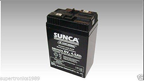 SUNCA 6V 4.5Ah Rechargable Battery for UPS Emergency Light TOYS by Supreme Traders Supertronics1989