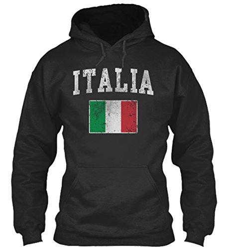 Bequemer Hoodie Damen / Herren / Unisex von Teespring | Originelles Outfit für jeden Anlass und lustige Geschenksidee - Italien - Italienische Flagge (Sweatshirt Italienisch-flag)