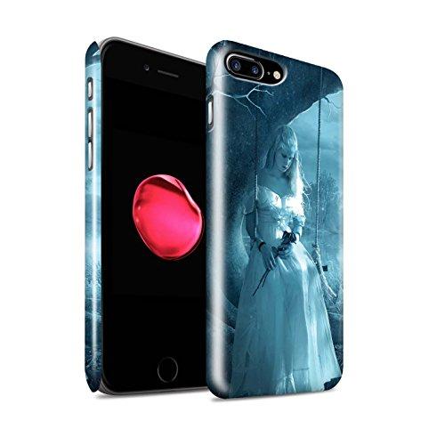 Officiel Elena Dudina Coque / Clipser Brillant Etui pour Apple iPhone 8 Plus / Distraits Design / Art Amour Collection Luz Sombra
