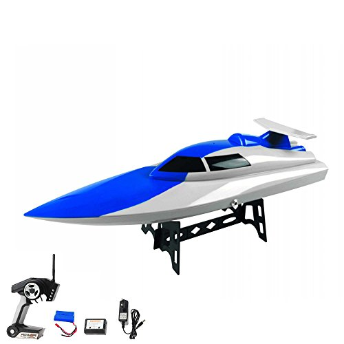 High-Speed Rennboot 46 cm mit Rollenfunktion 2.4 GHz 4-Kanal, Li-Poly-Akku 1500 mAh,Farblich sortiert