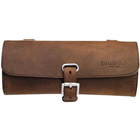 Brooks Challenge Tool Bag Leder Sattel Tasche Werkzeug Tasche, Challenge Tool Bag, Farbe aged (Breite Werkzeugtasche)