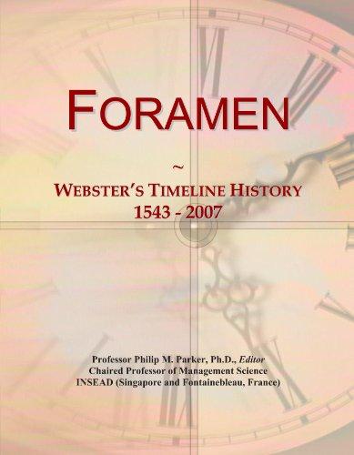 Foramen: Webster's Timeline History, 1543 - 2007