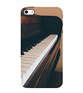 printtech Vintage Music Piano Instrument Back Case Cover for Apple iPhone 4