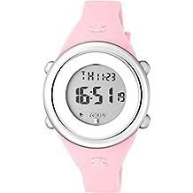 Reloj Tous Soft Digital de acero con correa de silicona rosa Ref:800350610 Niña