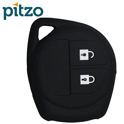 PITZO Car Silicone Key Cover for 2 Button Remote Key Shell/Case/Body for Maruti Suzuki Swift / Swift Dzire / WagonR / S-Cross / Ertiga / A-Star / Ciaz / Celerio - Black  available at amazon for Rs.195