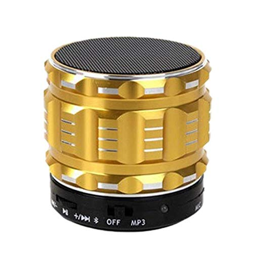 qiyan , Mini tragbare Bluetooth-Audio-Bluetooth-Lautsprecher Metall Wireless Mini Bluetooth-Lautsprecher für Mobiltelefone Tablets-in tragbare Lautsprecher Gold