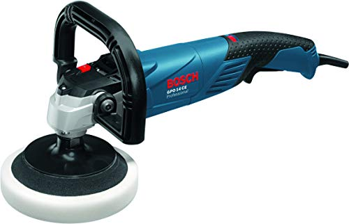 Bosch Professional GPO 14 CE Polierer, 1.400 W, M 14 Gewinde, Drehzahlvorwahl