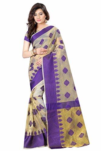 V.K.Creation new designer printed cotton saree for woman purple color
