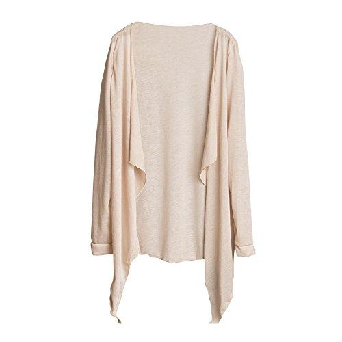 MORCHAN  Tops Veste à Capuche Sweat Shirt Chemisier Manteau Tricots Tunique Été Femmes Long Thin Cardigan Modal Protection Solaire Vêtements Tops(Taille Libre,Beige)