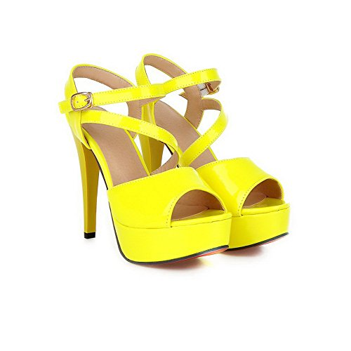 Adee , Damen Sandalen Gelb