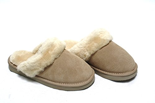 lammfell hausschuhe slipper damen lammfell pantoffeln huettenschuhe sand beige mit beigen fell. Black Bedroom Furniture Sets. Home Design Ideas