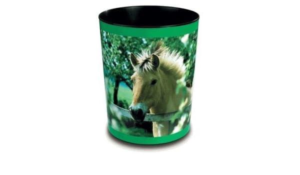 Läufer Papierkorb Pferd und Fohlen am See 13 Liter
