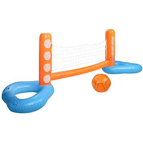 HeySplash Wasserspiel Pool Volleyball Game, Volleyball-Set Netz + Ball ,240 x 71 x 62 cm