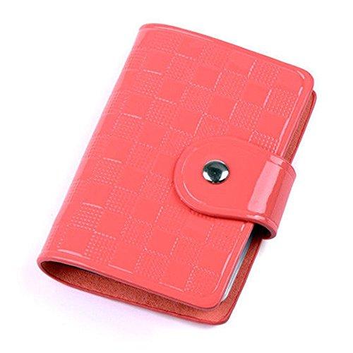 PRIMI Damen Tasche Kunstleder ID Kreditkarte Fall Inhaber (Wassermelone Rot) (Geldbörse Inhaber Fall)