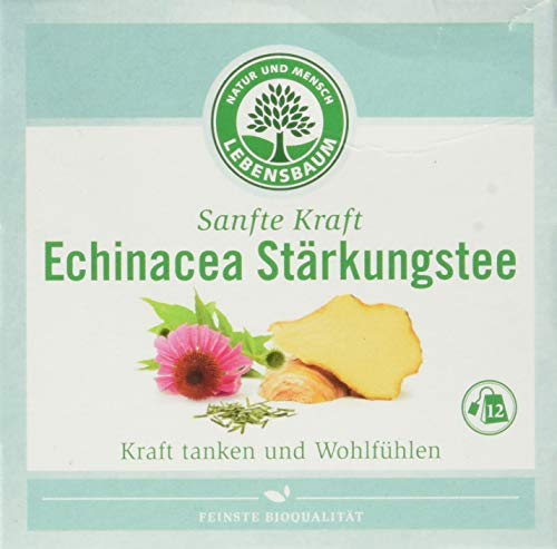 Lebensbaum Sanfte Kraft Kräutertees Im Teebeutel - Einzeln Kuvertiert - Echinacea Stärkung, 40 g