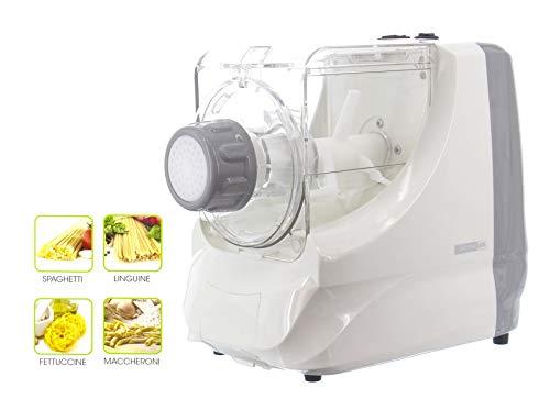 Pasta Maker, Potenza 250 W, Funzioni 4 In 1, Macchina Per Fare La Pasta, Con 4 Trafile Incluse, Pasta Pronta In 3 Min, Ideale Per Spaghetti/Linguine/Fettuccine/Maccheroni, Capacità 600 Grammi