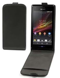Etui Slim à rabat Sony Xperia M rabat vertical fermeture magnétique