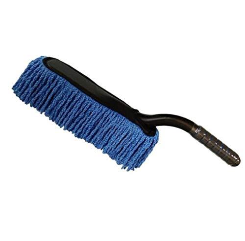 XH Shop Car wash mop Kurzer Stiel Autowaschbürste Autopinzette Wachsbürste Abnehmbarer und abwaschbarer Staub Wash Mop