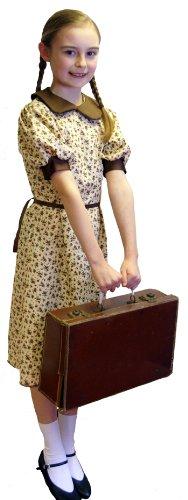 1940's-WW2-Wartime FLORAL PRINT EVACUEE DRESS World Book Day Fancy Dress Costume AGE 11-12 (Crazyladies Kostüm)