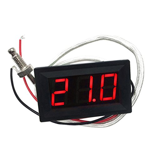 -30-800 ℃ Grad Celsius Thermometer Digital-LED Auto-Temperatur-Messinstrument -Monitor-Anzeige Tester Temp Panel Meter Spur 12V ± 2V Angetrieben, Temperaturgenauigkeit: ± 0,3 ℃ Grad Celsius - rot