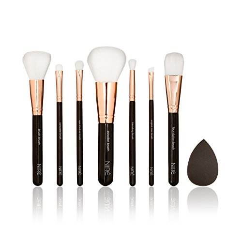 Niré Beauty Top Quality Make up Brushes: Professional Make up Brush Set with Niré Beauty Blender and Travel Makeup Brush holder*** Soft, Gorgeous & Cruelty free makeup brushes*** Nicely packed in a high-end gift box