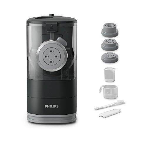 Philips HR2345/29 Viva Collection Pastamaker con Fronte in Metallo, 13.5 cm, Nero