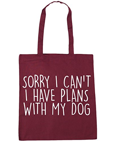 41epjw5ODtL UK BEST BUY #1HippoWarehouse Sorry I Cant I Have Plans With My Dog Tote Shopping Gym Beach Bag 42cm x38cm, 10 litres price Reviews uk