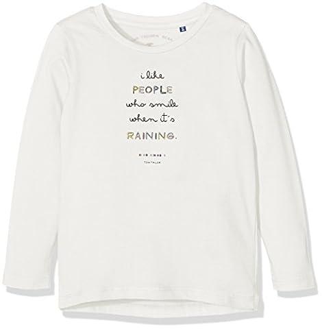 TOM TAILOR Kids Mädchen Basic Print T-Shirt, Weiß (Soft Clear White 2067), 116