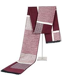 YuFLangel Bufanda Hombre Bufanda de los Hombres Invierno Cuello cálido Abrigo Borla Suave Finaliza Bufandas de