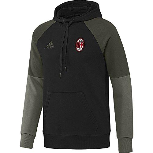 adidas Herren Ac Mailand Kapuzensweatshirt Black/Night Cargo/Victory Red S04