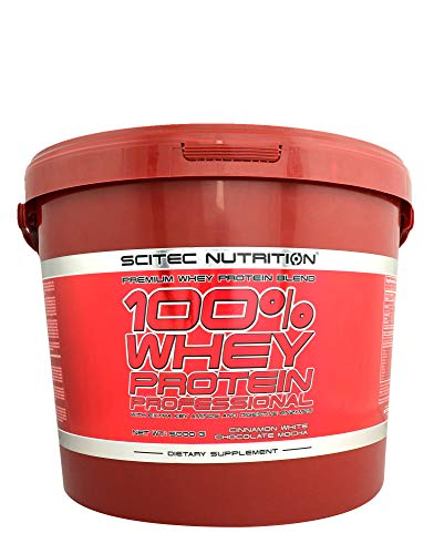 SCITEC NUTRITION 100% Whey Protein Professional 5000g qer pack 5kg Molkenproteinpulver Protein Chocolate Coconut Geschmack -
