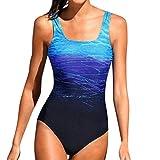 MAYOGO Frauen Farbverlauf Farben Bademode Beachwear Monokini Bikini Sets Overall,Damen Sommer Sportlich Badeanzug Swimsuit Swimwear Tankinis Serie2-11