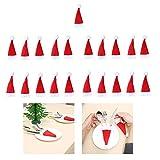 Cooljun Mini Santa Weihnachtsmützen für Esstisch Besteckhalter, Tischdekoration Weihnachtsdeko Weihnachtsmann Mütze Besteckhalter für Weihnachten Deko (21 Stück)