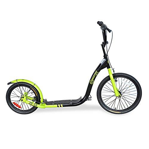 City Scooter Master 20 Zoll / 16 Zoll rot, grün, schwarz Roller Tretroller (grün)