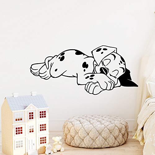 Geschnitzte Hund Abnehmbare Art Vinyl Wandaufkleber Wohnzimmer Kinderzimmer Diy Pvc Home Schlafzimmer Dekoration Zubehör gelb M 30 cm X 65 cm