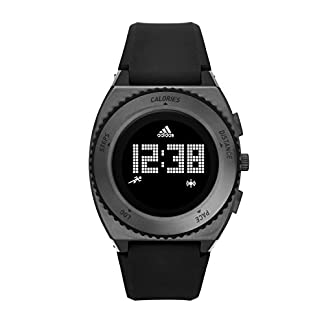 adidas Sprung – Reloj de Cuarzo con la Correa de plástico para Hombre, Color Negro/Azul