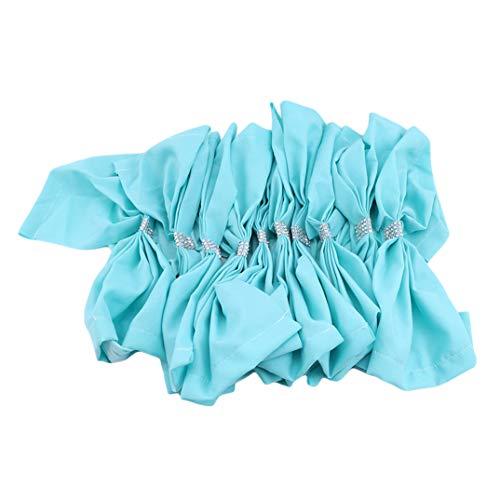 JOOFFF Große Bowknot Stuhl Schärpen Elastische Schleife Zurück Krawatte Band Stühle Abdeckung Bands Für Hotel Hochzeit Geburtstag Geburtstag Hochzeitstag Dekoration Zubehör, Blau -
